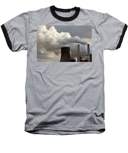 Coal Power Station Blasting Away Baseball T-Shirt