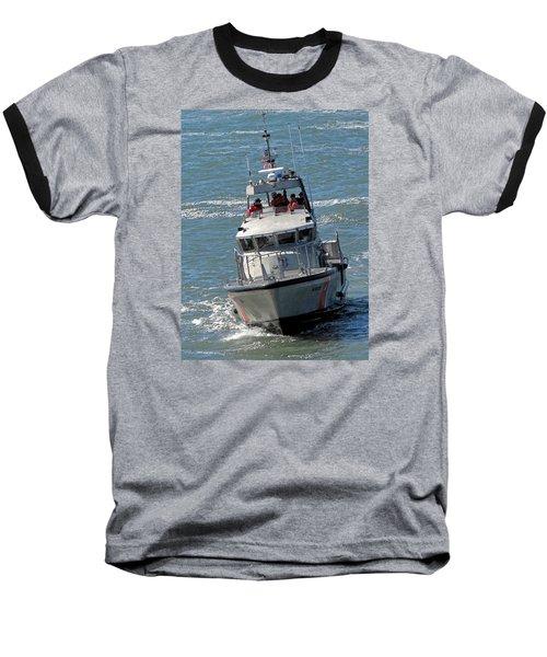 Coast Guard At Depot Bay Baseball T-Shirt by Chris Anderson
