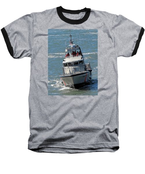 Baseball T-Shirt featuring the photograph Coast Guard At Depot Bay by Chris Anderson