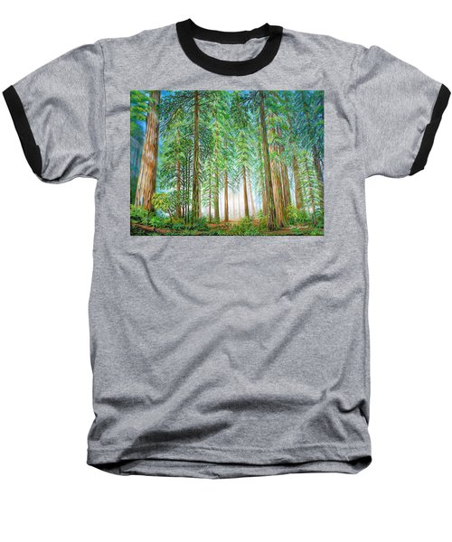 Coastal Redwoods Baseball T-Shirt