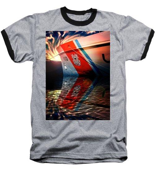 Aaron Lee Berg Baseball T-Shirt featuring the photograph Coast Guard Uscg Alert Wmec-630 by Aaron Berg