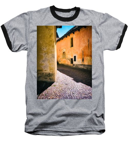 Baseball T-Shirt featuring the photograph Cobbled Street by Silvia Ganora