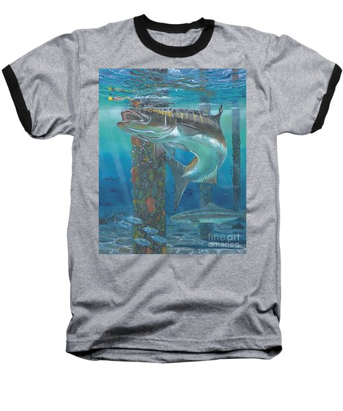 Cobia Strike In0024 Baseball T-Shirt by Carey Chen