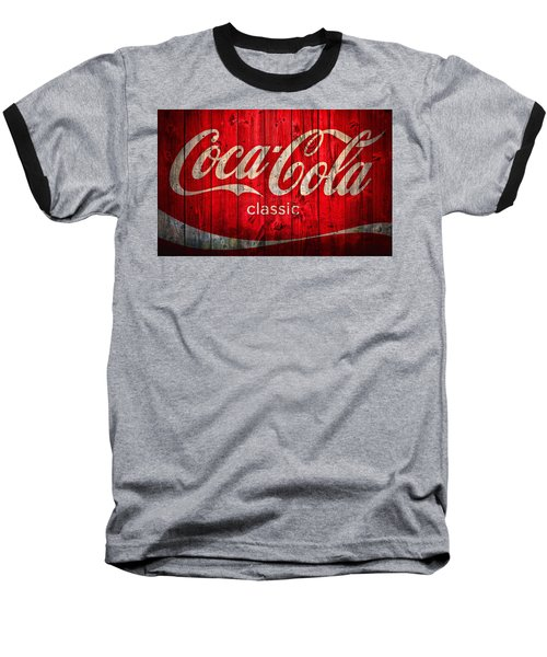Coca Cola Barn Baseball T-Shirt