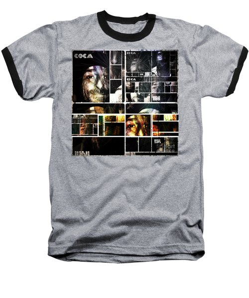 Baseball T-Shirt featuring the photograph Coca In Part 5 Collage  by Sir Josef - Social Critic - ART