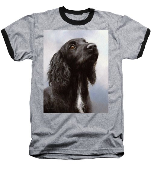 Cocker Spaniel Painting Baseball T-Shirt