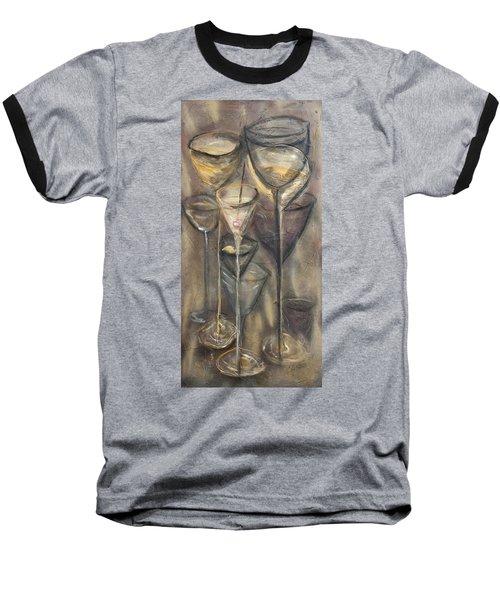 Nine Glasses Baseball T-Shirt