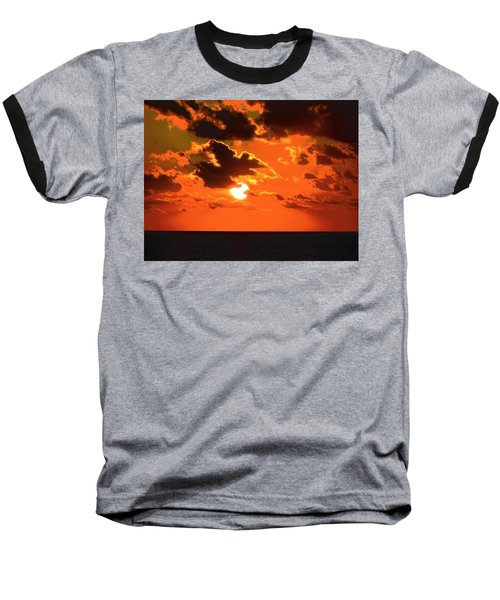 Baseball T-Shirt featuring the photograph Coco Cay Sunset by Jennifer Wheatley Wolf