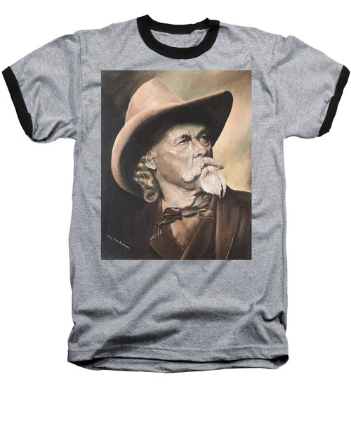 Baseball T-Shirt featuring the painting Cody - Western Gentleman by Mary Ellen Anderson
