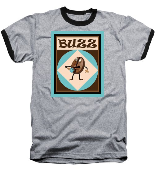 Coffee Buzz Baseball T-Shirt