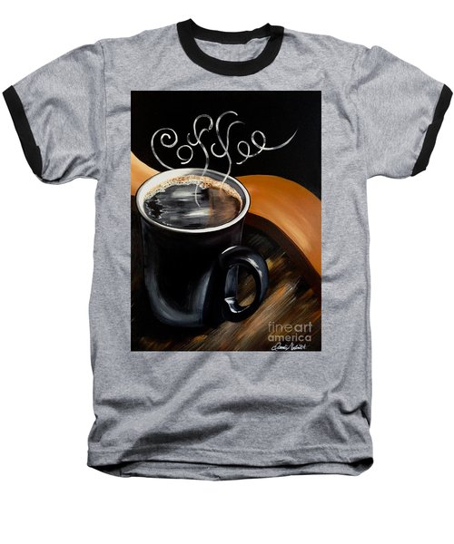 Coffee Break Baseball T-Shirt by Dani Abbott
