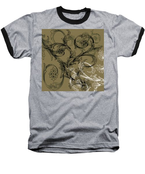 Coffee Flowers 3 Olive Baseball T-Shirt