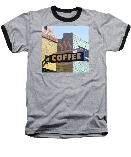 Coffee Shop Baseball T-Shirt by Art Block Collections
