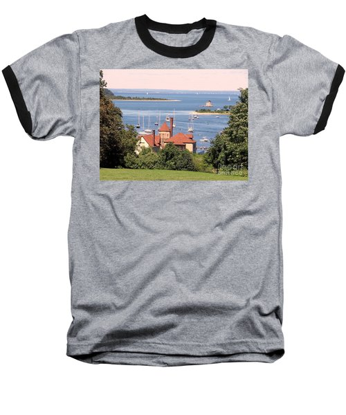 Coindre Hall Boathouse Baseball T-Shirt by Ed Weidman