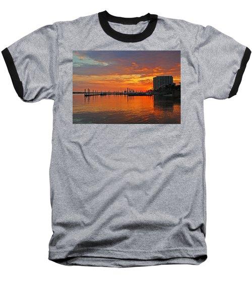 Colbalt Morning Baseball T-Shirt by Michael Thomas