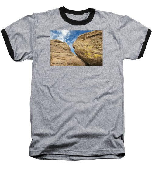Baseball T-Shirt featuring the painting Colby's Cliff by Bruce Nutting
