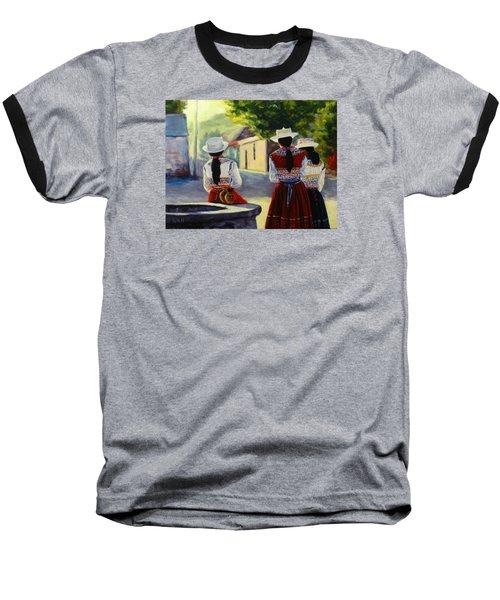 Colca Valley Ladies, Peru Impression Baseball T-Shirt