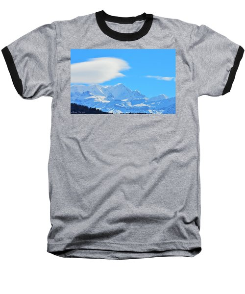 Cold And Sunny Alps Baseball T-Shirt by Felicia Tica