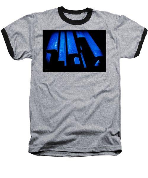 Cold Blue Steel Baseball T-Shirt by Steven Milner