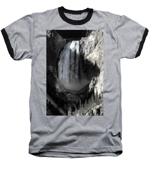 Baseball T-Shirt featuring the photograph Cold Cascade  by David Andersen