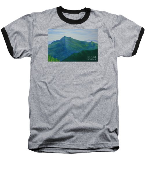 Baseball T-Shirt featuring the painting Cold Mountain by Stacy C Bottoms