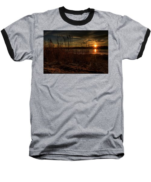 Cold Winter Sunset Baseball T-Shirt