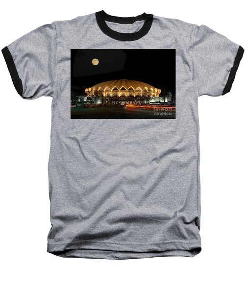 Coliseum Night With Full Moon Baseball T-Shirt by Dan Friend