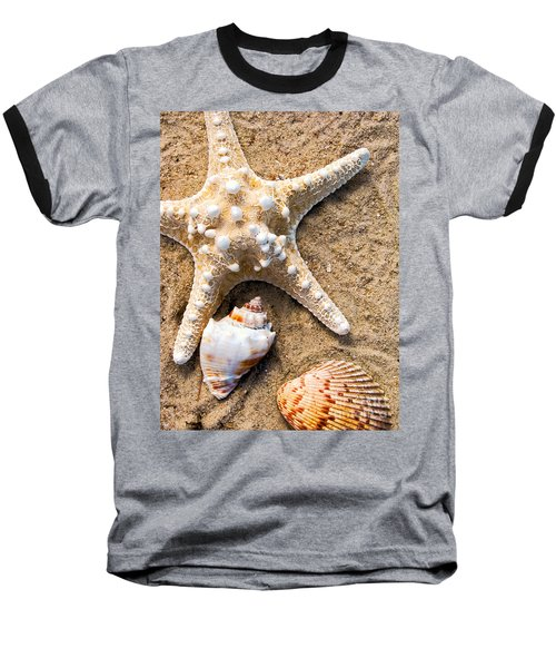 Collecting Shells Baseball T-Shirt