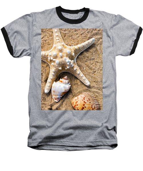 Collecting Shells Baseball T-Shirt