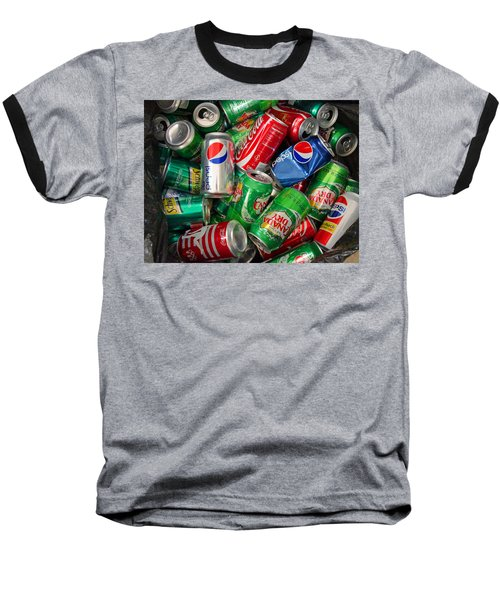 Baseball T-Shirt featuring the photograph Collection Of Cans 02 by Andy Lawless