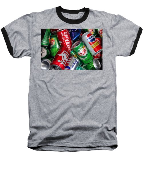 Baseball T-Shirt featuring the photograph Collection Of Cans 04 by Andy Lawless