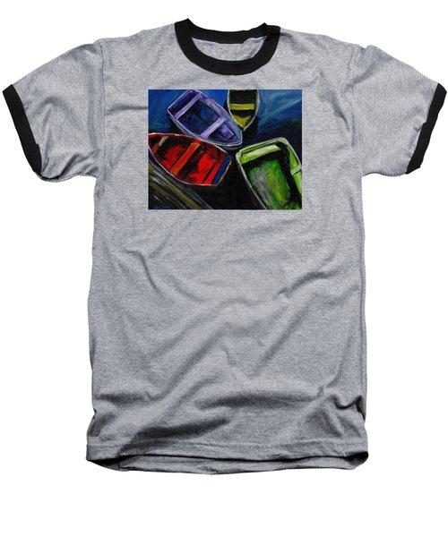 Colliding Skiffs Baseball T-Shirt