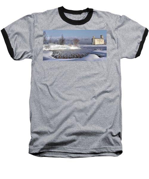Collingwood Terminal Building In Winter  Baseball T-Shirt