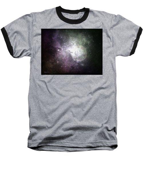 Collision Baseball T-Shirt by Cynthia Lassiter