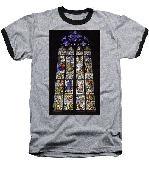 Cologne Cathedral Stained Glass Window Of The Three Holy Kings Baseball T-Shirt