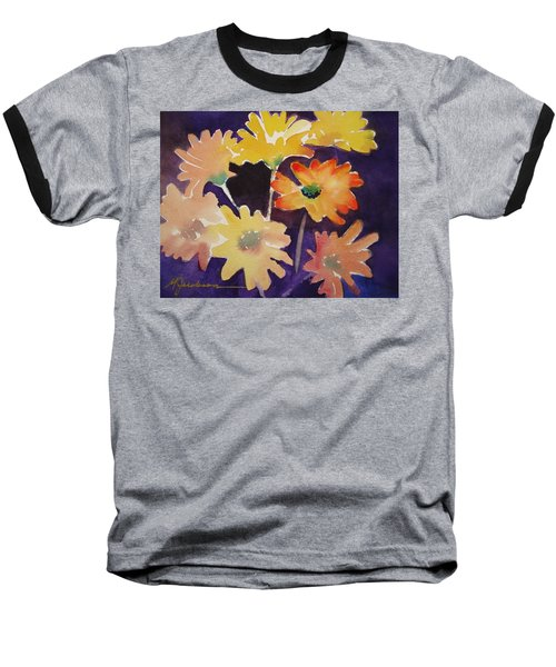 Color And Whimsy Baseball T-Shirt by Marilyn Jacobson