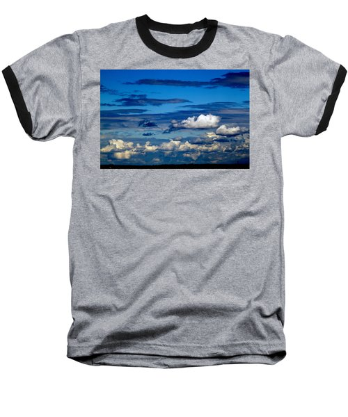 Color Burned Clouds Baseball T-Shirt