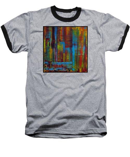 Color Burst Baseball T-Shirt by Katia Aho