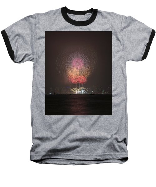 Baseball T-Shirt featuring the photograph Colored Skies by John Swartz