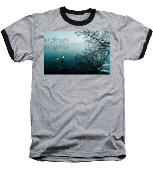 Color Of Ice Baseball T-Shirt by Davorin Mance