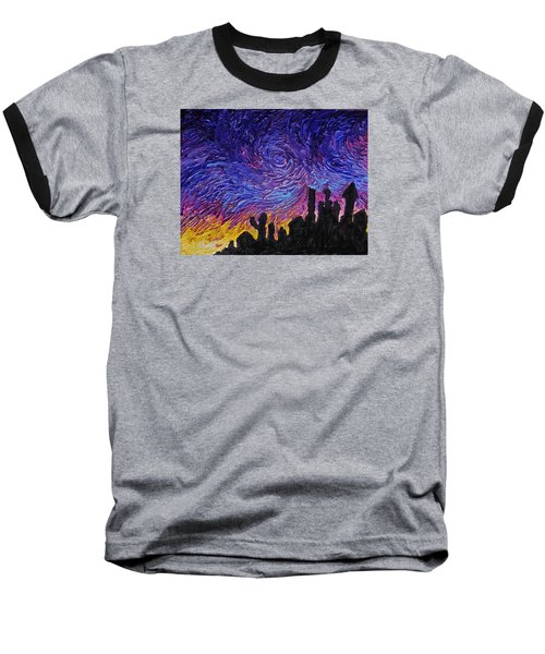 Color Of The Sky Part1 Baseball T-Shirt by Felix Concepcion