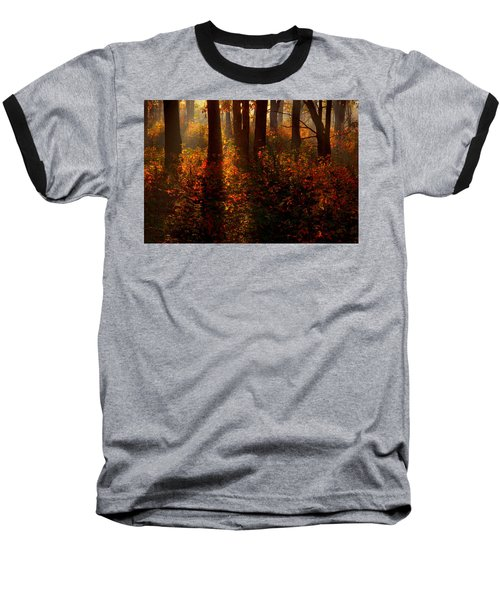 Color On The Forest Floor Baseball T-Shirt