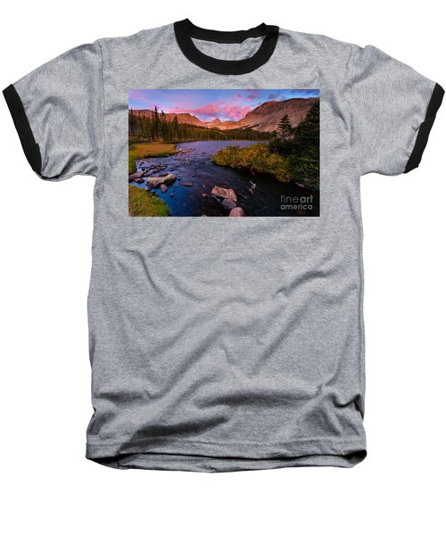 Color Over  Indian Peaks Baseball T-Shirt by Steven Reed