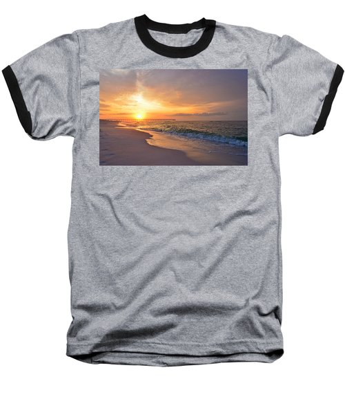 Color Palette Of God On The Beach Baseball T-Shirt by Jeff at JSJ Photography