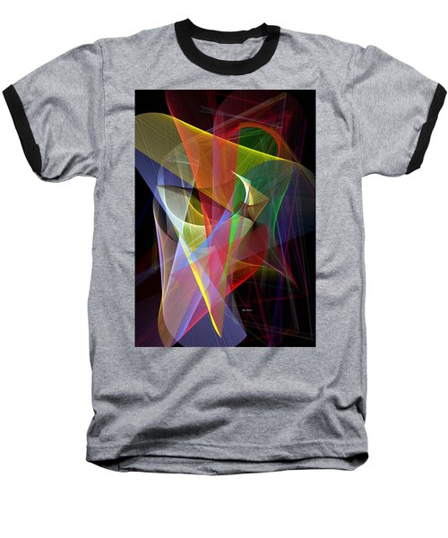 Baseball T-Shirt featuring the digital art Color Symphony by Rafael Salazar