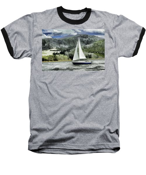 Colorado By Wind Baseball T-Shirt