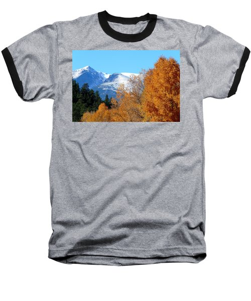 Colorado Mountains In Autumn Baseball T-Shirt by Marilyn Burton