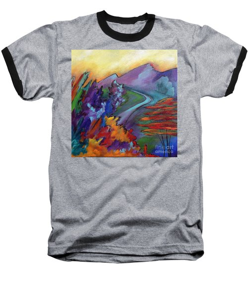 Baseball T-Shirt featuring the painting Colordance by Elizabeth Fontaine-Barr