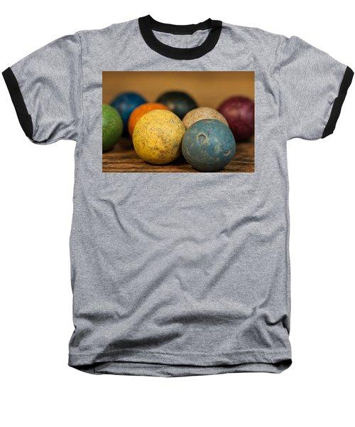 Colored Clay Marbles Baseball T-Shirt
