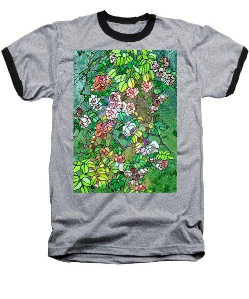 Colored Rose Garden Baseball T-Shirt